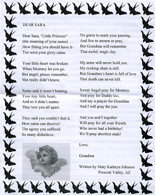 Abortion poem grandma