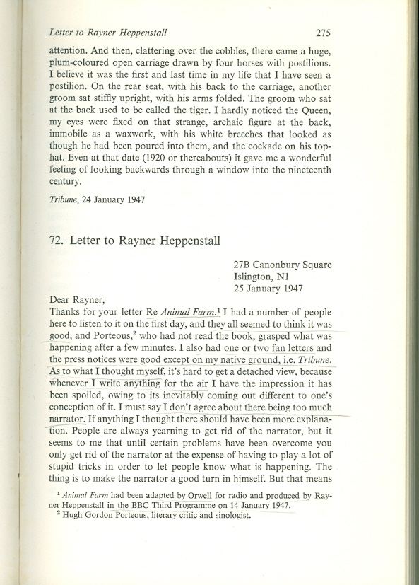 collected essay george journalism letter orwell