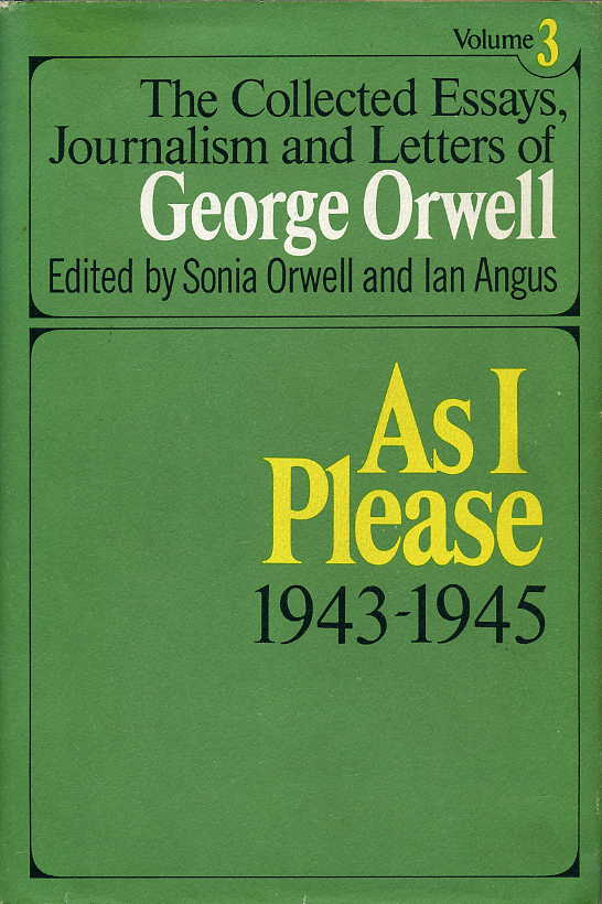 orwell essays letters →home table of content united architects table of content all sites → download: → george orwell, the collected essays, journalism and letters 19.