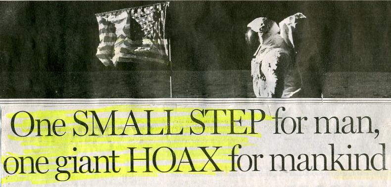 Muž oslovil Armstronga a Aldrina, kteří údajně přistáli na Měsíci. Jeden mu vrazil pěstí do tváře a druhý odmítl přísahat na Bibli