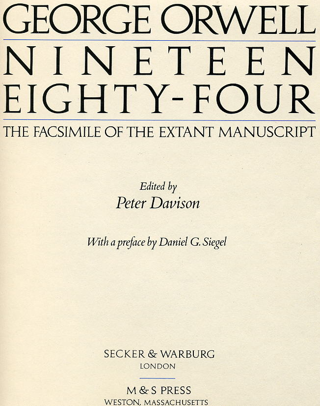 nineteen eighty four essay introduction The major concepts of the dystopian world in nineteen eighty-four by george orwell nineteen eighty-four is a novel written by george essay and essay collections.