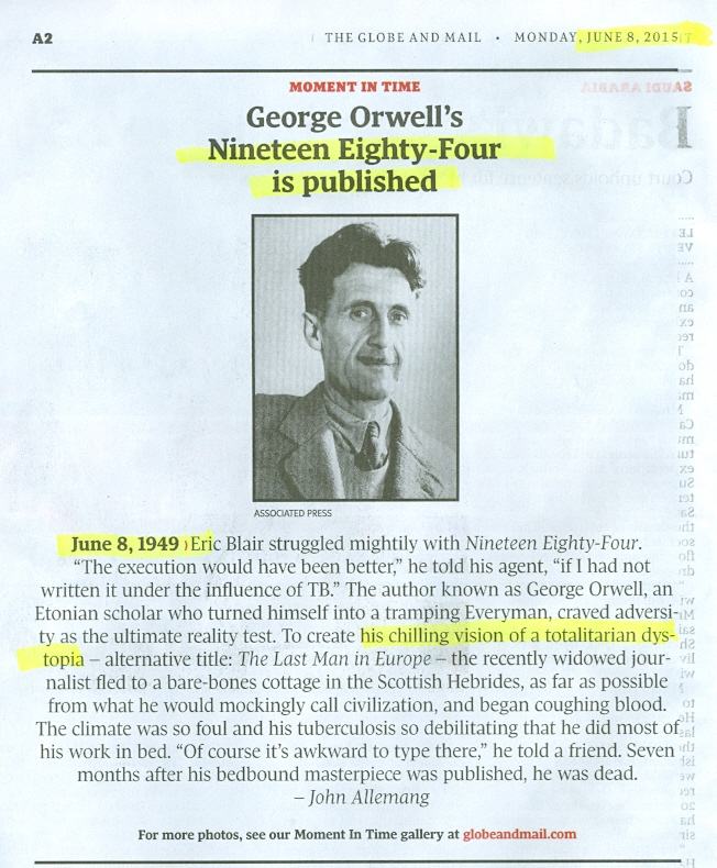 Does anyone have a essay on how Marxism relate to 1984 by Orwell?