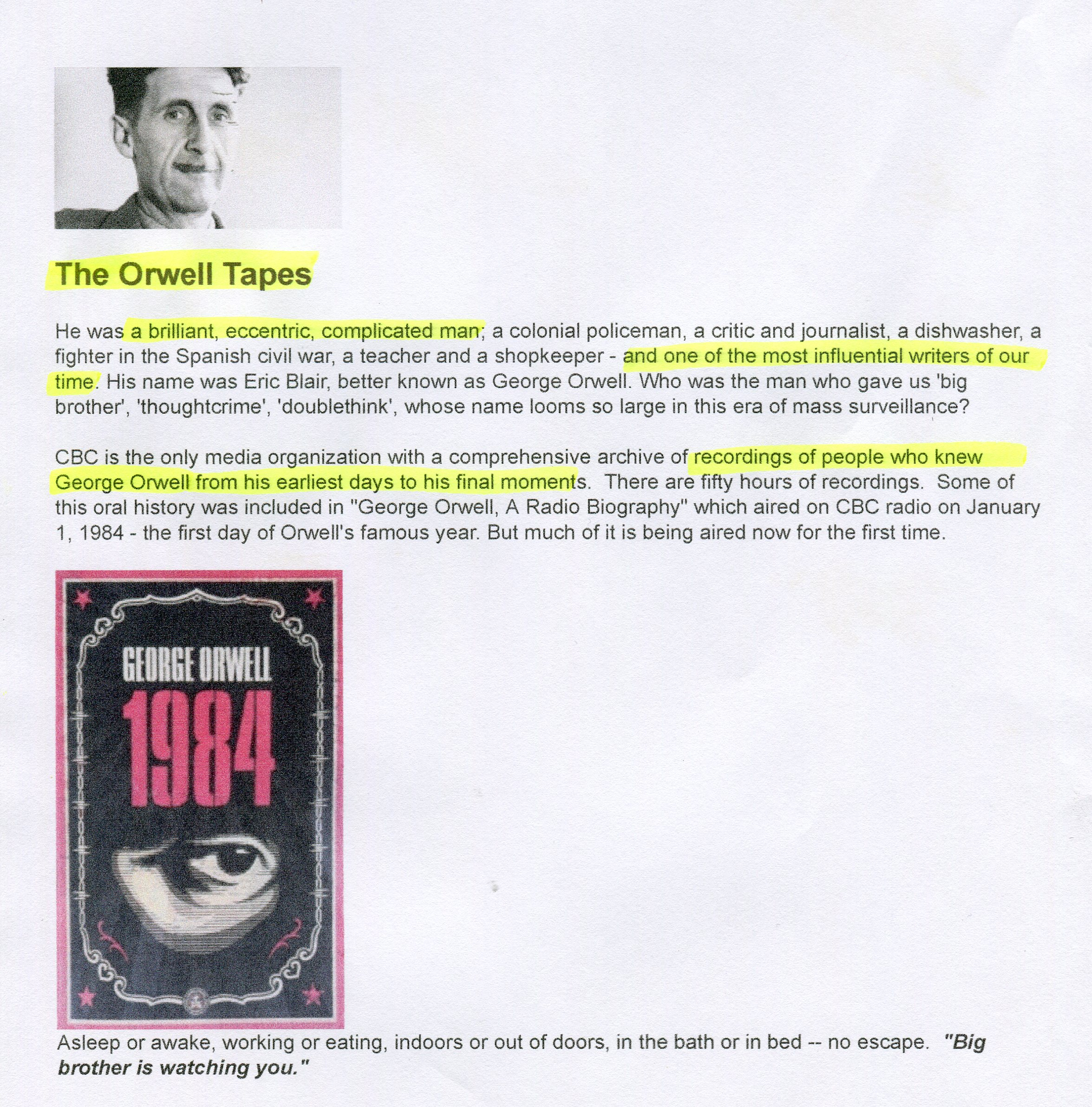 analysis essay george orwell criticizing euphemisms used u In paragraph 4, orwell uses a simile describing phrases tacked together like the sections of a orwell compares the obscuring effect of using a euphemism to the falling of snow, which blocks unlike the writers he criticizes, orwell uses vivid metaphors that clearly convey their meaning to the.