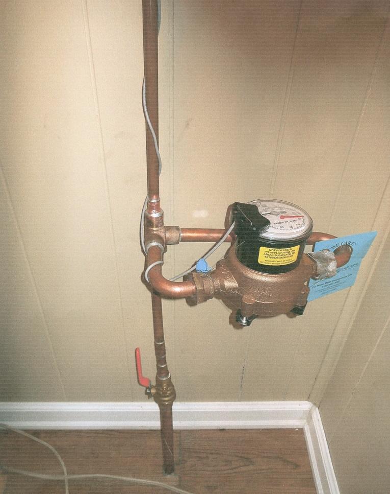 House Water Meter : Reader water meter refuse