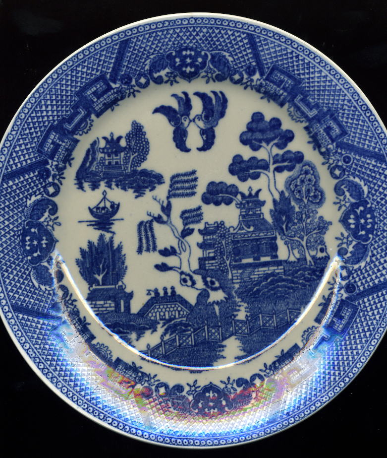 Dinner Plate. 4 BLUE WILLOW DISHES POEMS & Reader Blue Willow Wallpaper