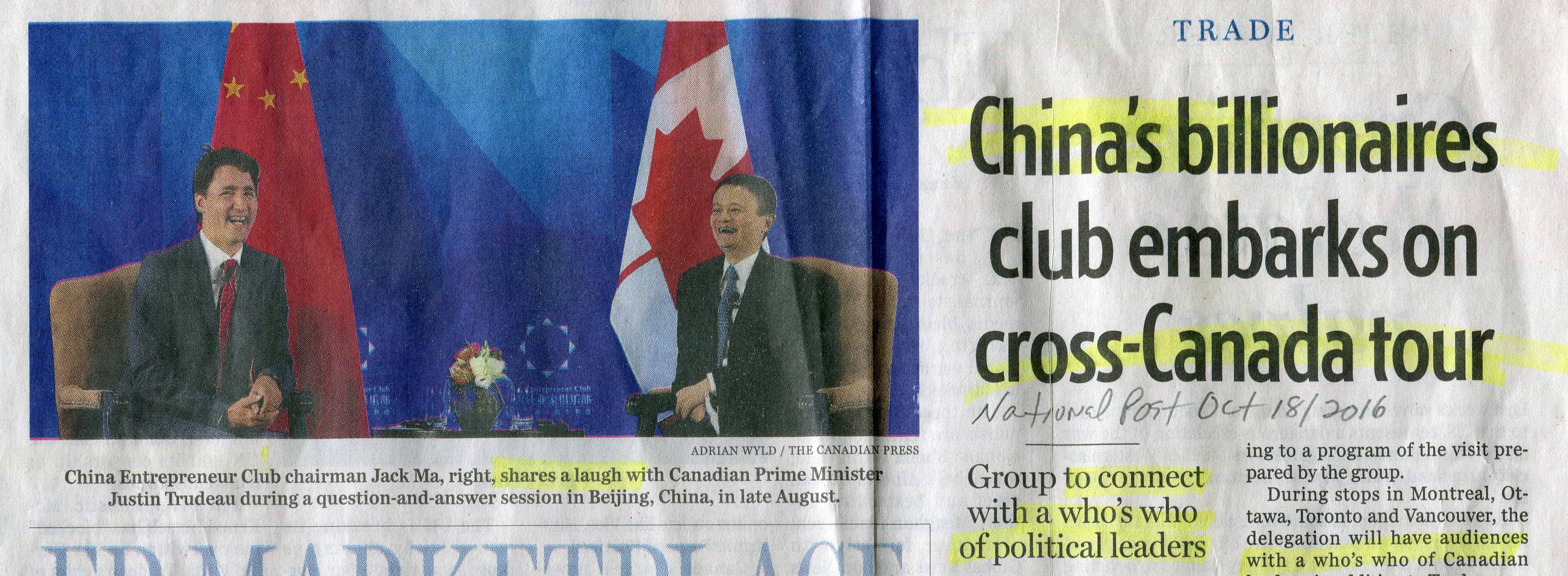 Image result for China's billionaires club in Canada