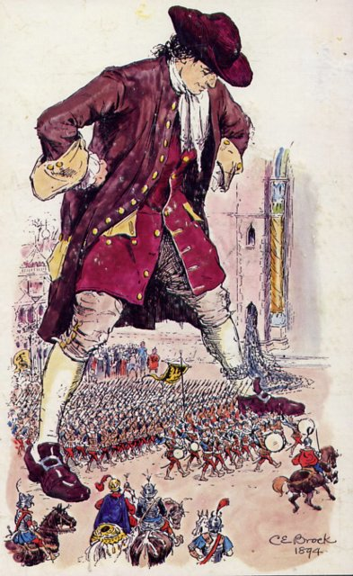 the satire in lilliput in the story of gullivers travels Free essay: satire in gulliver's travels jonathan swift in gulliver's travels,  the story is set on an island called lilliput,.